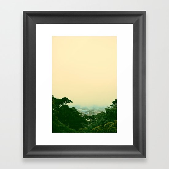 A Chance of Cloudy Weather Framed Art Print