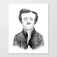 edgar allan poe Canvas Prints featuring Edgar Allan Poe by Sparganum