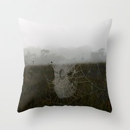 Dew Web Throw Pillow