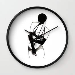 Woman in the mask Wall Clock