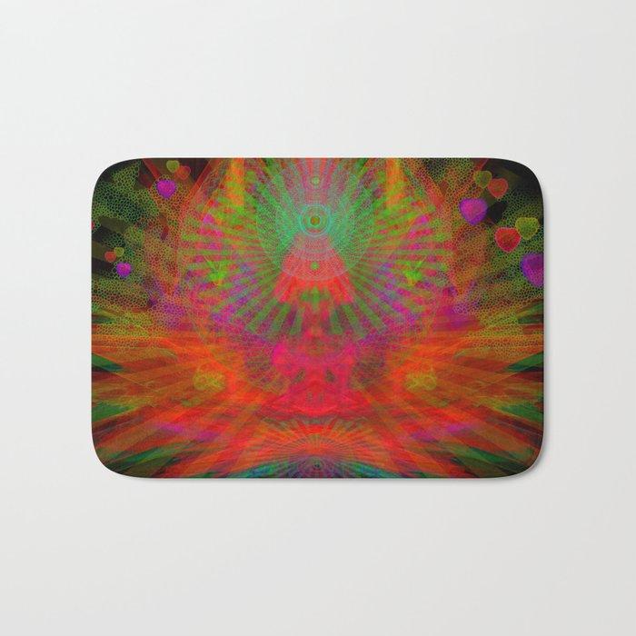 Love Radiation Meditation Bath Mat