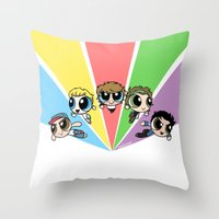 cyrilliart Throw Pillows featuring Powerpuff!Direction by Cyrilliart