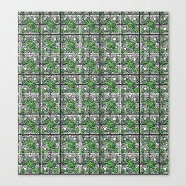 Tropical Monochrome Canvas Print