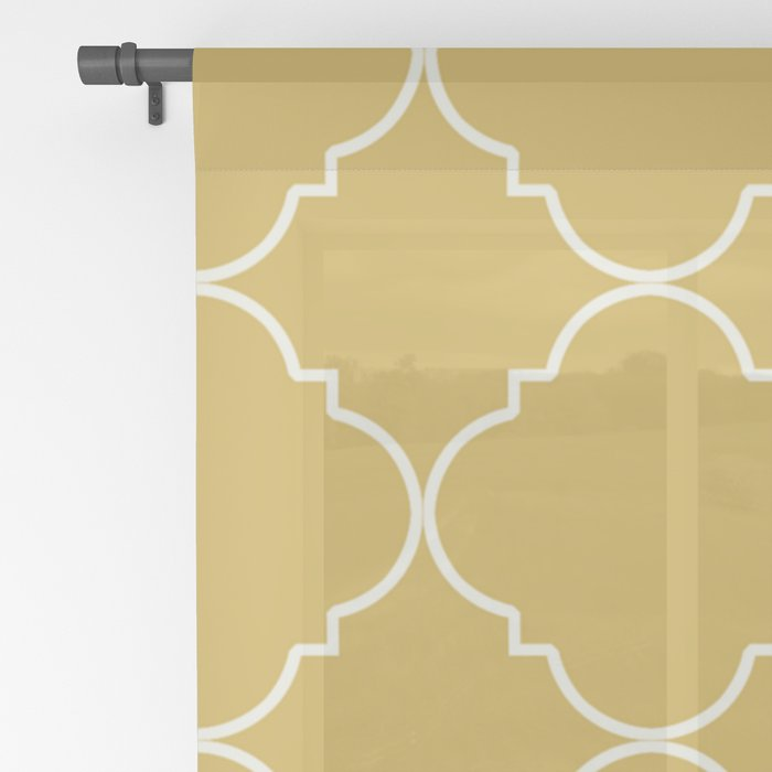 Yellow Moroccan Sheer Curtain