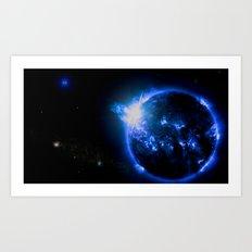 Blue Galaxy Star Art Print