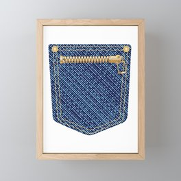 Zipper Pocket Framed Mini Art Print