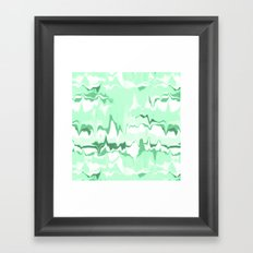 Marbled in emerald Framed Art Print