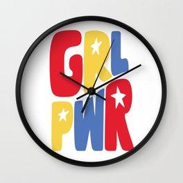 GRL PWR Star Wall Clock