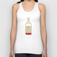 wine Tank Tops featuring wine bottle by Marco Recuero