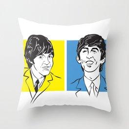 Face The Fab Four Throw Pillow