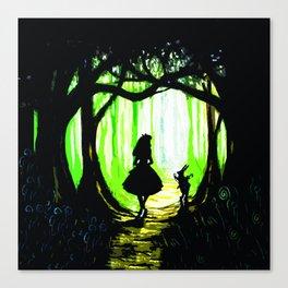 alice and rabbits Canvas Print