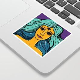 She Woke Sticker