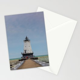 Ludington North Breakwater Light - Lake Michigan Stationery Cards