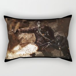 Victory is achieved throught mettle...  Rectangular Pillow