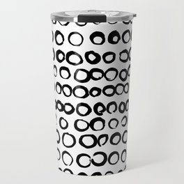 Black and White Circles Travel Mug