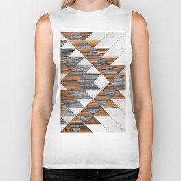 Urban Tribal Pattern No.12 - Aztec - Wood Biker Tank