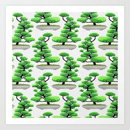 Japanese Bonsai Art Print