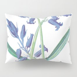 Blue Lily of the Valley Artwork Painting Pillow Sham
