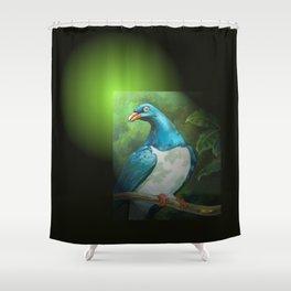NZ Native Pigeon Kereru Shower Curtain