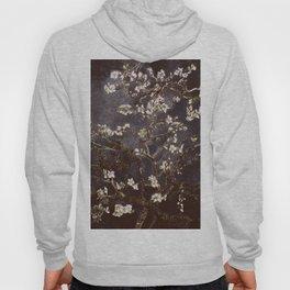 Vincent Van Gogh Almond Blossoms dark gray slate Hoody