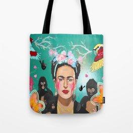 Frida Mural Painting Tote Bag