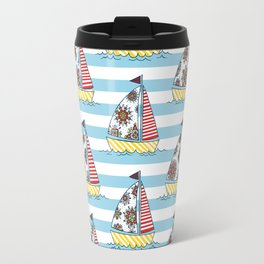 Sunny sailboats Travel Mug