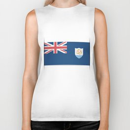 Flag of Anguilla. The slit in the paper with shadows. Biker Tank