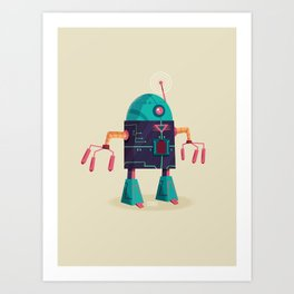 :::Mini Robot-Arpax::: Art Print