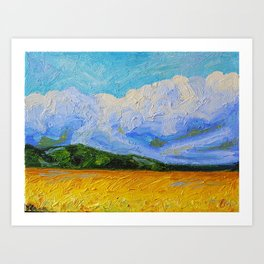 Cool Clouds Art Print