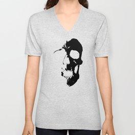 Skull - Black Unisex V-Neck