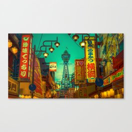 Osaka Nights - Shinsekai, New World / Liam Wong Canvas Print
