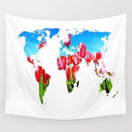 World of Tulips Wall Tapestry