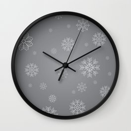 Winter Snow Flakes Wall Clock