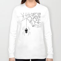 spider Long Sleeve T-shirts featuring Spider by Chrystal Elizabeth
