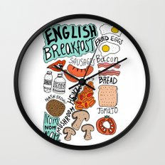 English Breakfast Wall Clock