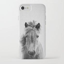 Wild Horse - Black & White iPhone Case