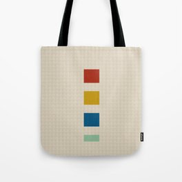 four elements || tweed & primary colors Tote Bag