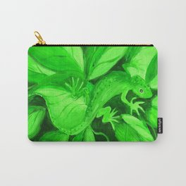 Green Gecko in the Green Jungle Carry-All Pouch