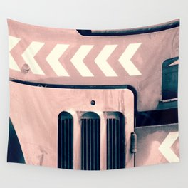 Road Roller Chevron - Industrial Abstract (everyday 17.01.2017) Wall Tapestry