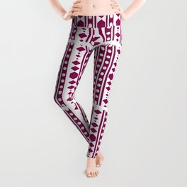Marsala Tribal Pattern Leggings