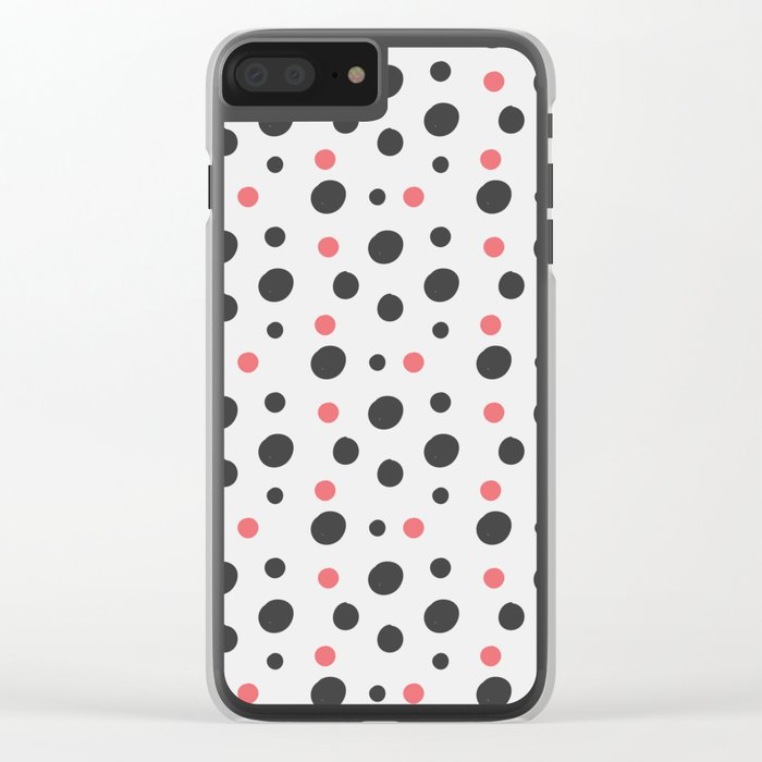 Hipster Circle Pattern Clear iPhone Case