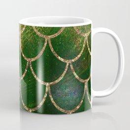 Green & Gold Mermaid Scales Coffee Mug