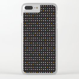 BLACK + WHITE Clear iPhone Case
