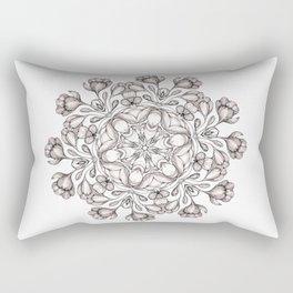 light broun flowers mandala Rectangular Pillow