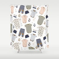 baby Shower Curtains featuring baby by Ceren Aksu Dikenci