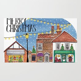 Special Edition Holiday Print: Merry Christmas by Charlotte Vallance Rug