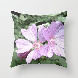 Symphonia flower in pink Throw Pillow