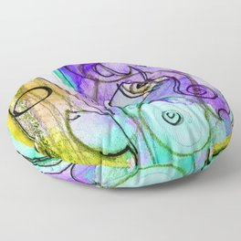 Abstract Nude Goddess No. 40C by Kathy Morton Stanion Floor Pillow