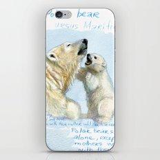 Polar bears A0086 iPhone & iPod Skin