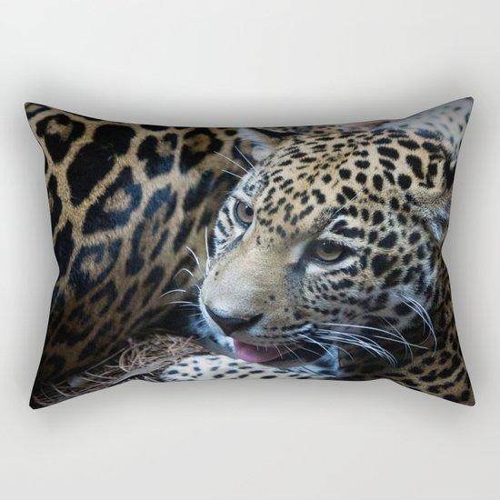 Jaguar Cub Rectangular Pillow